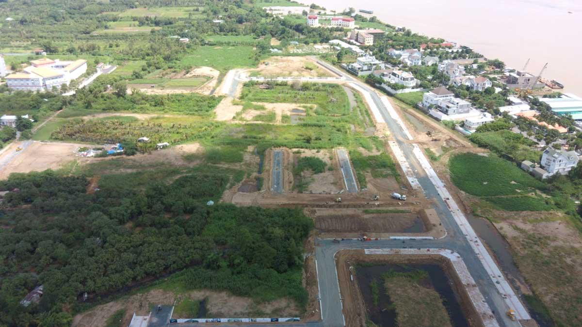 Flycam toan canh tien do thi cong du an con khuong diamond city thang 6 nam 2021 - Cồn Khương Diamond City