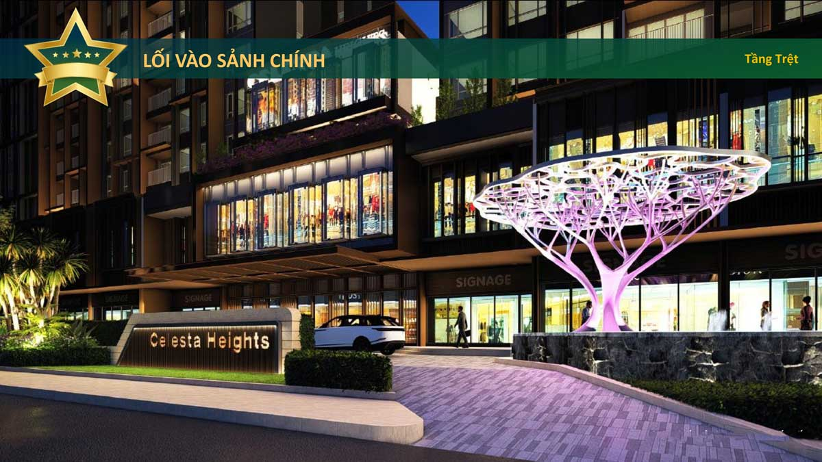 Loi vao sanh chinh Celesta Heights Nha Be - Celesta Heights Nhà Bè