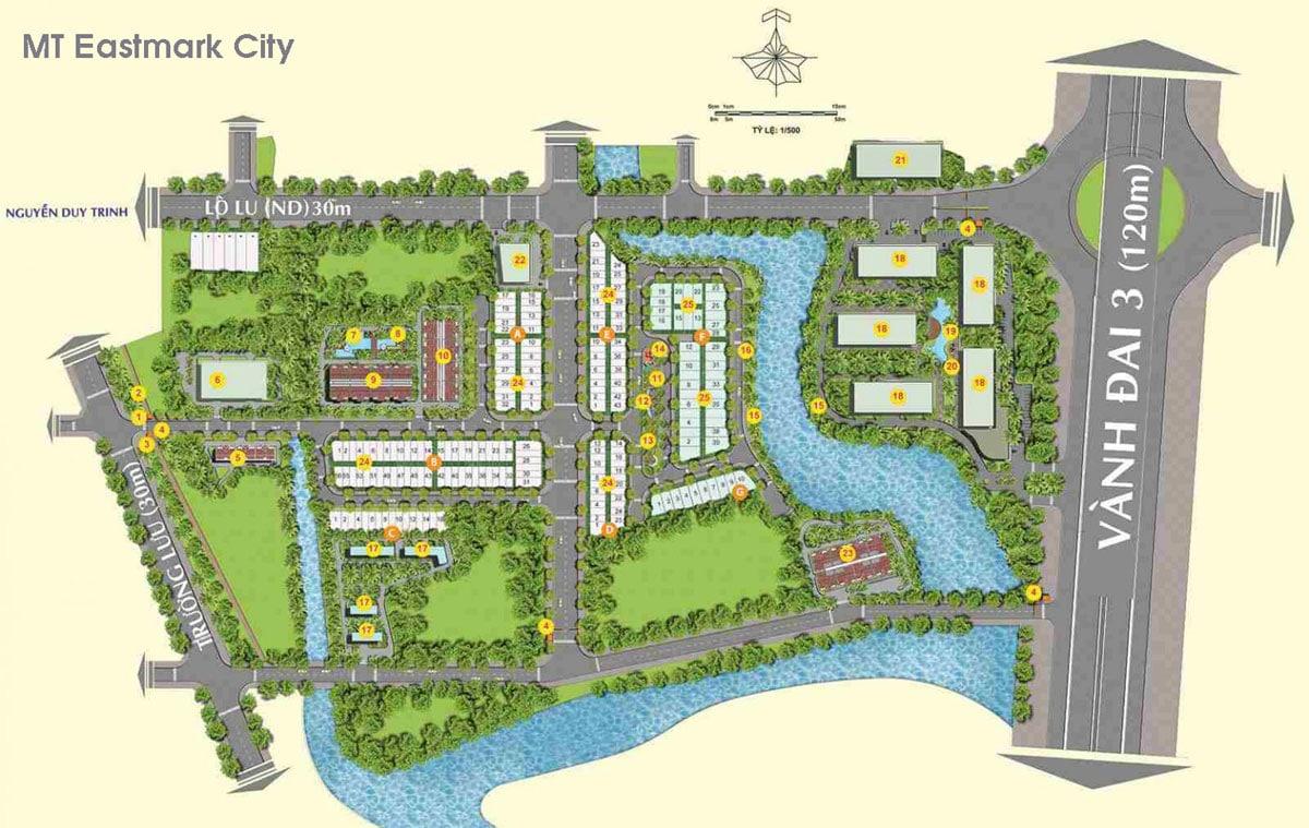 Mat bang Du an Can ho MT Eastmark City Quan 9 Thanh pho Thu Duc - MT Eastmark City