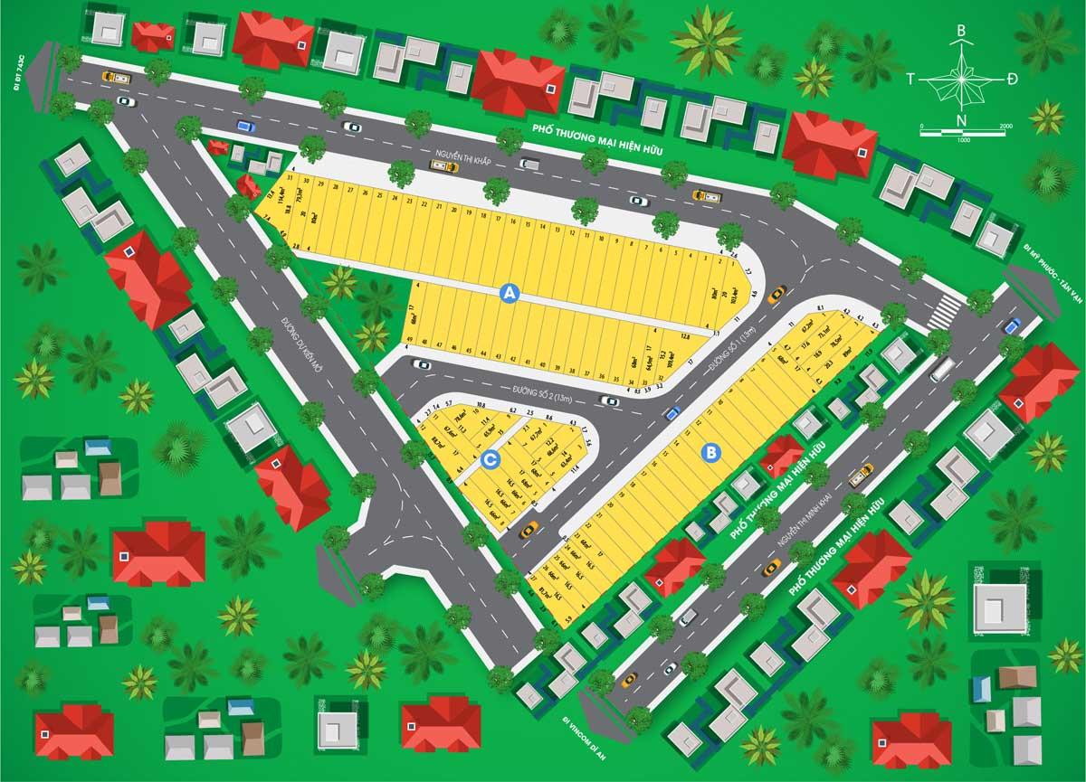 Mat bang phan lo Du an Nha pho Royal Town - Royal Town