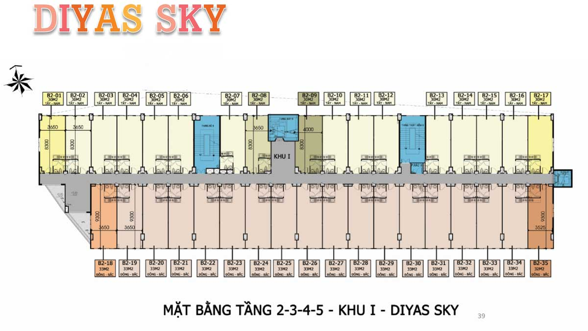 Mat bang tang 1 2 3 4 5 khu 1 Diyas Sky - Diyas Sky
