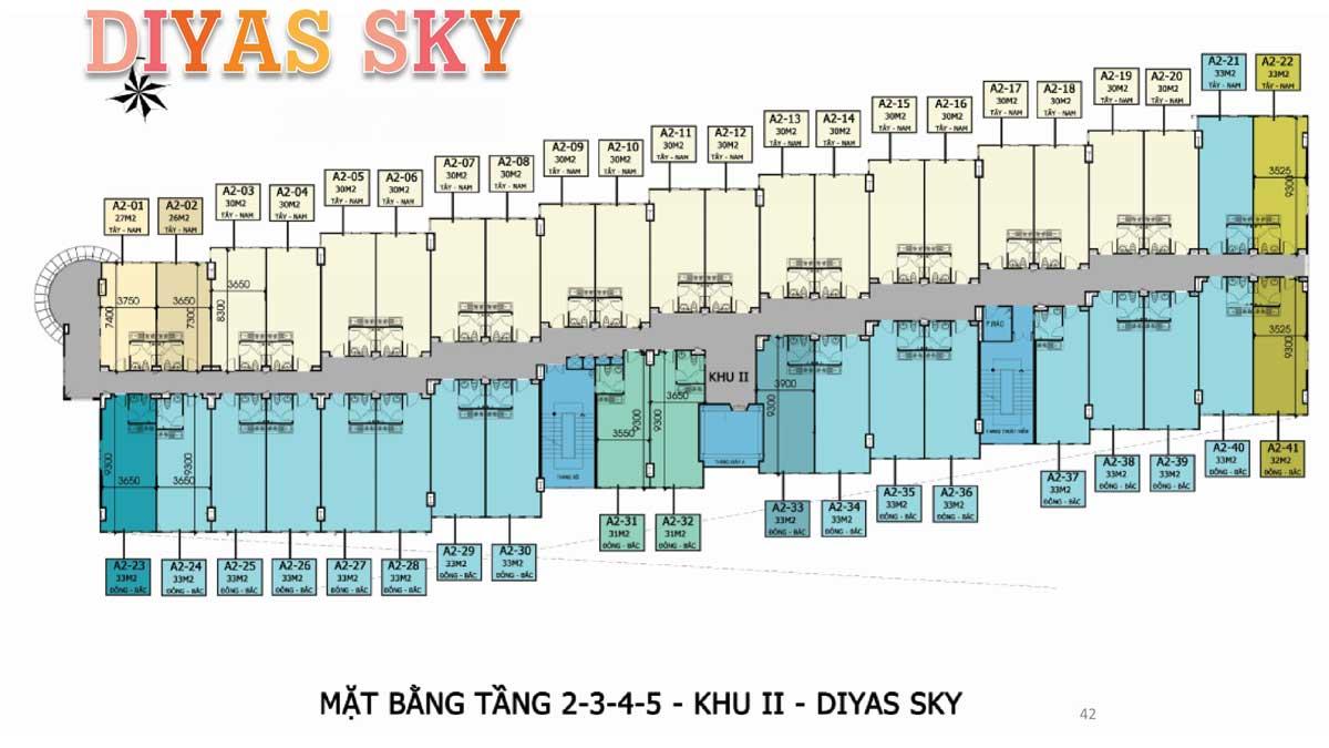 Mat bang tang 1 2 3 4 5 khu 2 Diyas Sky - Diyas Sky
