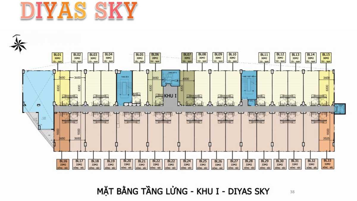 Mat bang tang lung khu 1 Diyas Sky - Diyas Sky