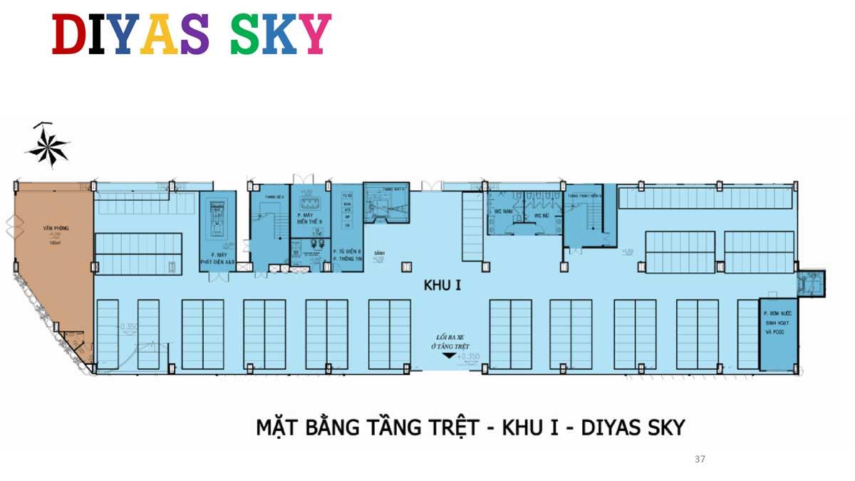 Mat bang tang tret khu 1 Diyas Sky - Diyas Sky