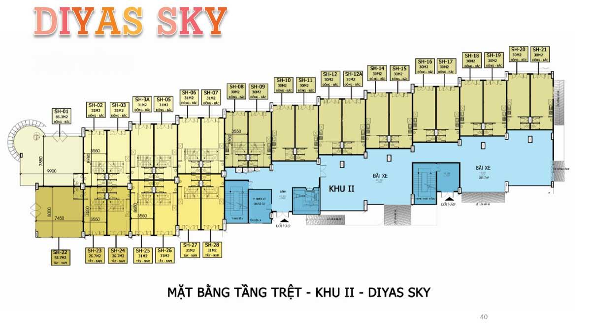 Mat bang tang tret khu 2 Diyas Sky - Diyas Sky