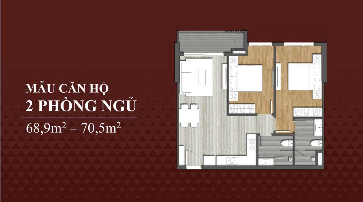 Mau can ho 2 Phong ngu Richmond Quy Nhon - Mẫu-căn-hộ-2-Phòng-ngủ-Richmond-Quy-Nhơn