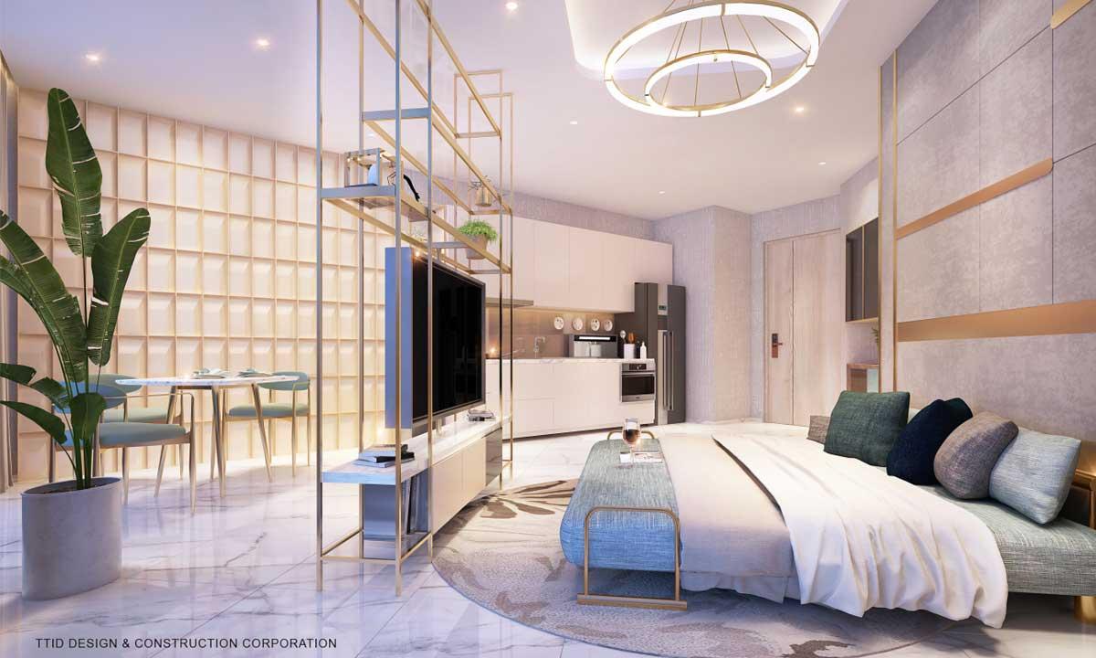 Phong ngu Can 1PN Thao Dien Green Quan 2 - Thảo Điền Green Towers Quận 2