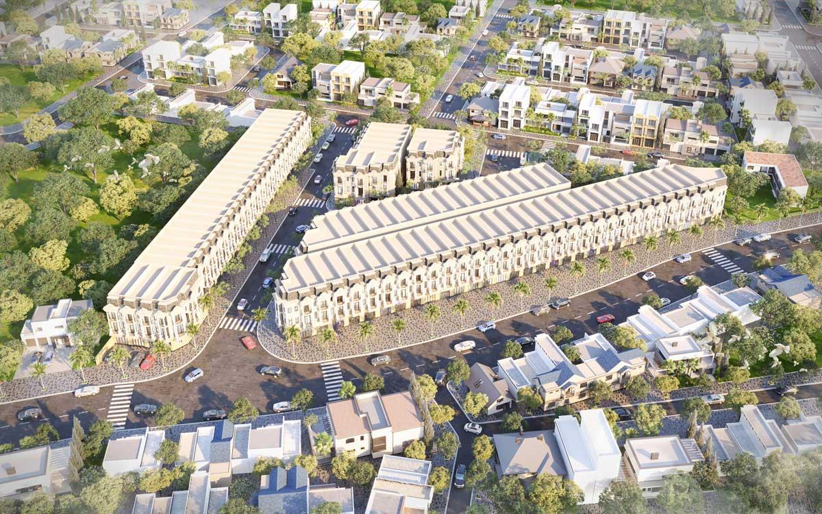 Phối cảnh Dự án Nhà phố KDC Royal Town Dĩ An Bình Dương