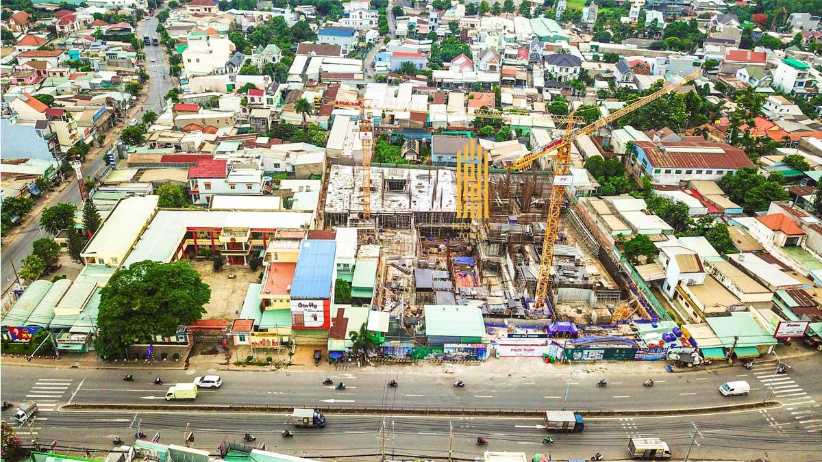 Tien do thi cong Can ho Phuc Dat Tower Thang 06 thang 2021 - PHÚC ĐẠT TOWER