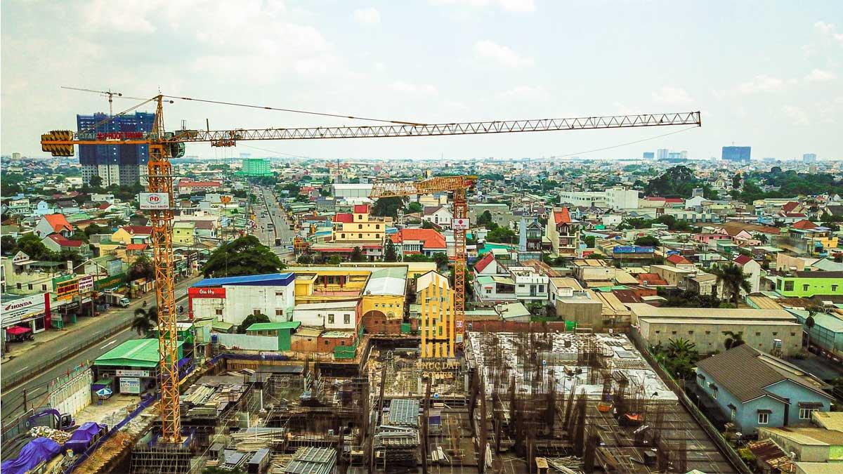 Tien do thi cong Du an Phuc Dat Tower Thang 06 thang 2021 - PHÚC ĐẠT TOWER