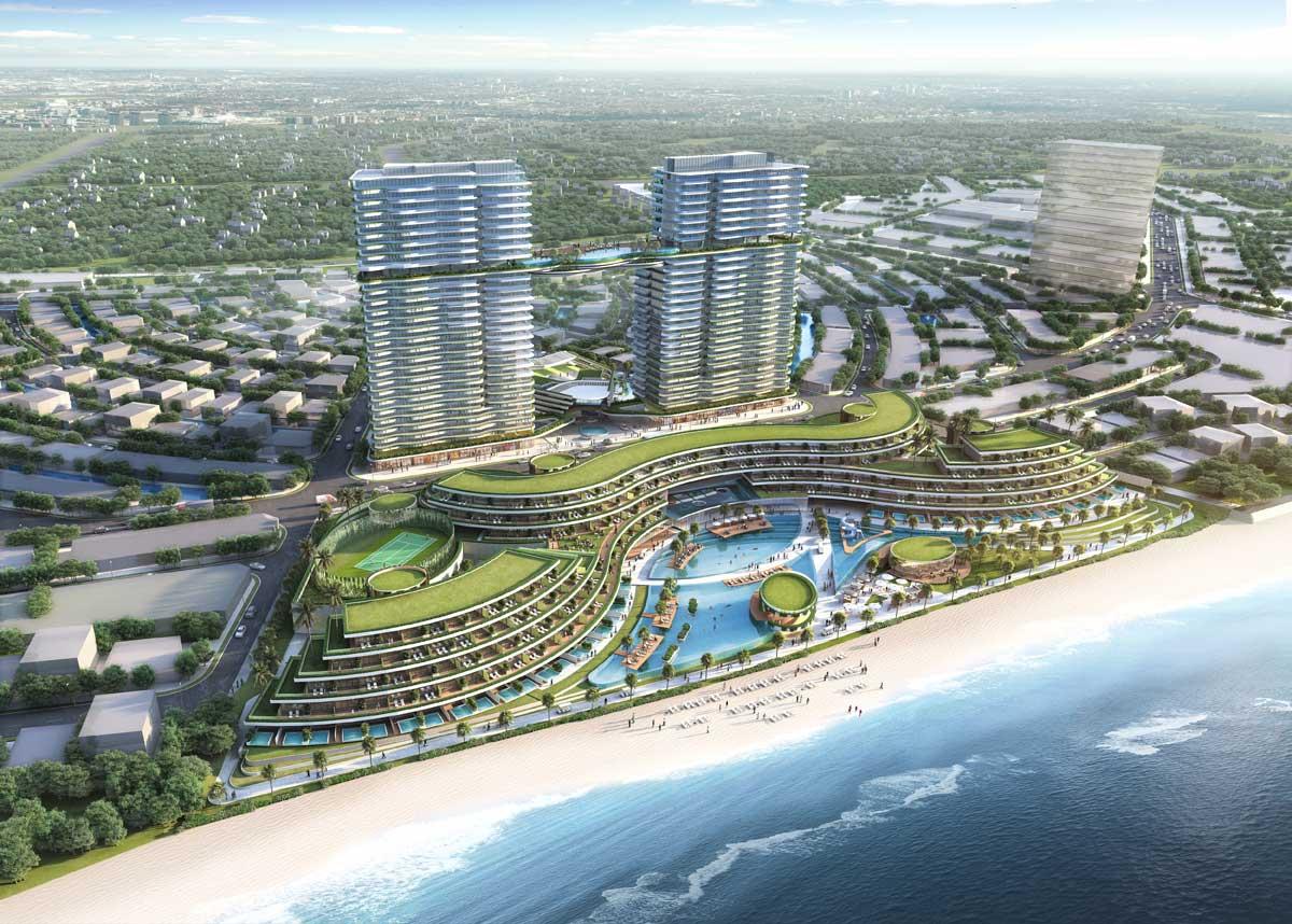 Toan canh Sheraton Hotel Venezia Beach - VENEZIA BEACH HỒ TRÀM BÌNH CHÂU