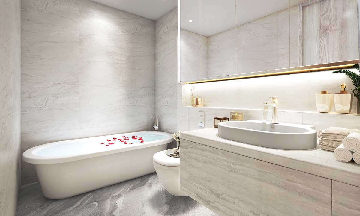 Toilet Can ho 2PN Thao Dien Green Thu Duc - Thảo Điền Green Towers Quận 2