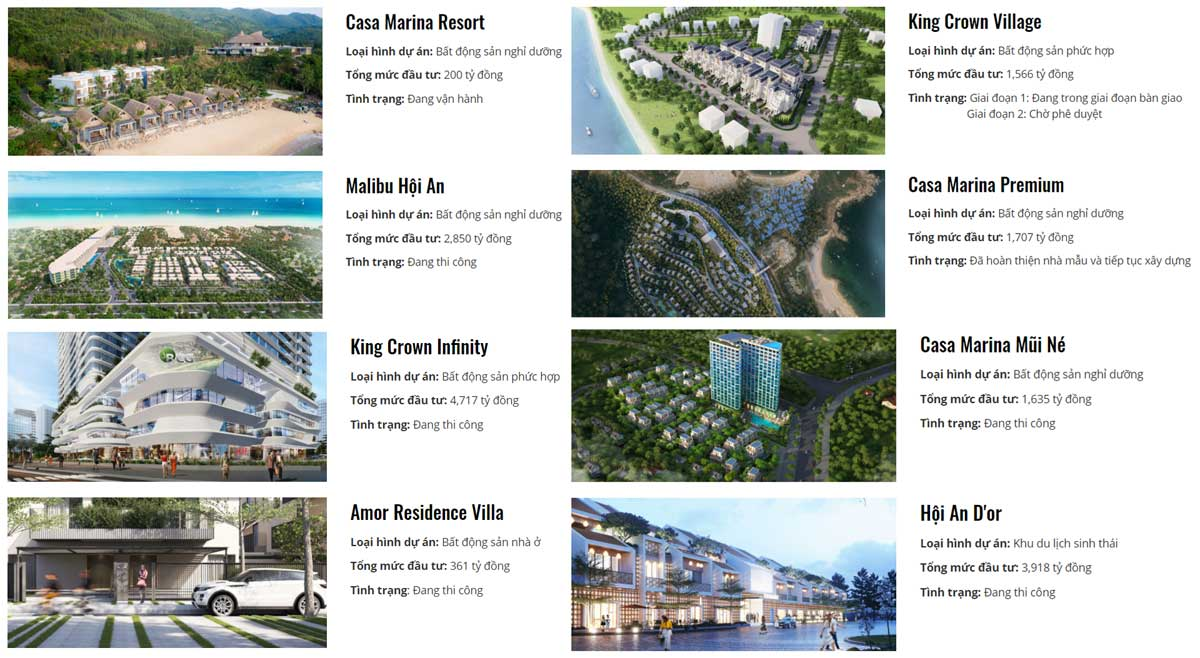 cac du an cua bamboo capital group - King Crown City