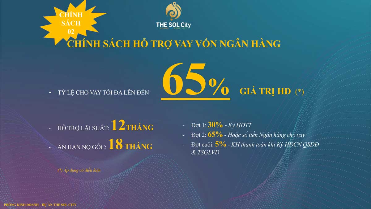 chinh sach ho tro vay von du an the sol city - The Sol City