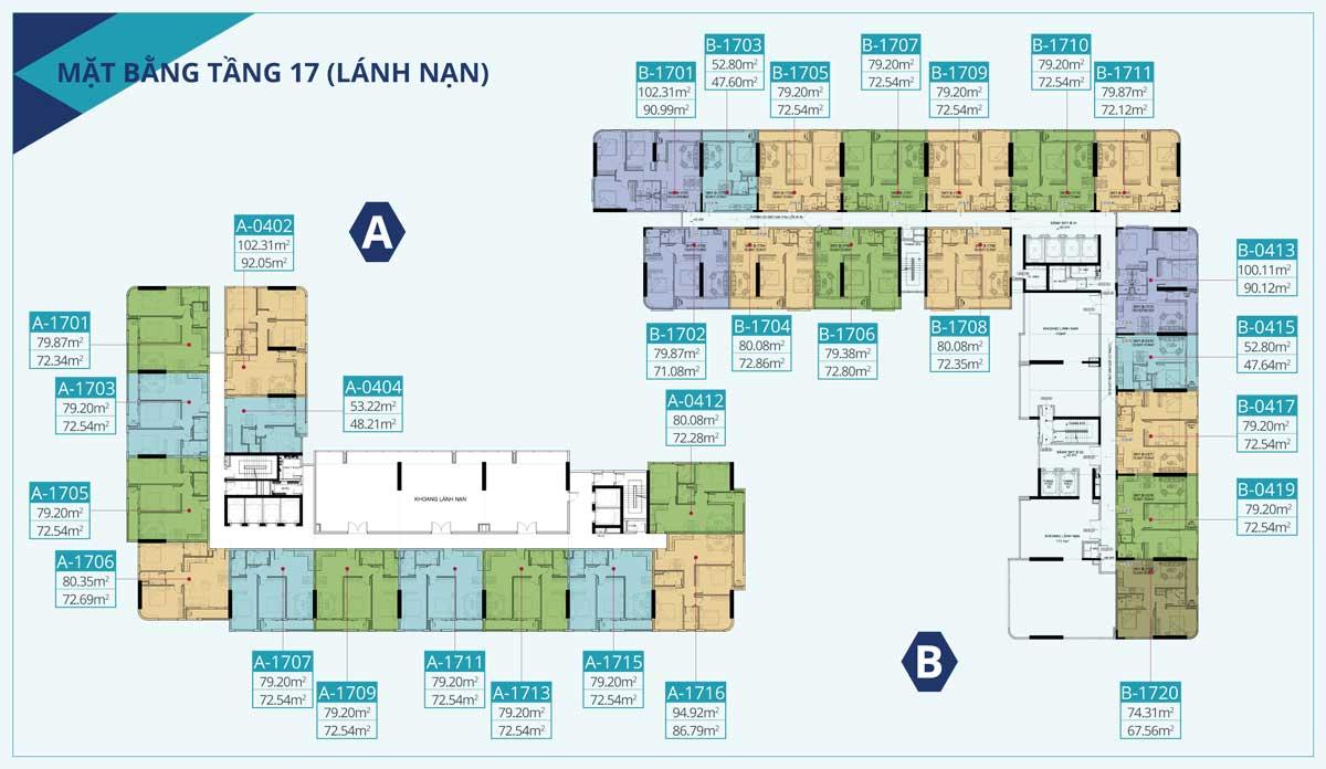 mat bang tang dien hinh tang 17 Du an can ho c skyview - mặt-bằng-tầng-điển-hình-tầng-17-Dự-án-căn-hộ-c-skyview