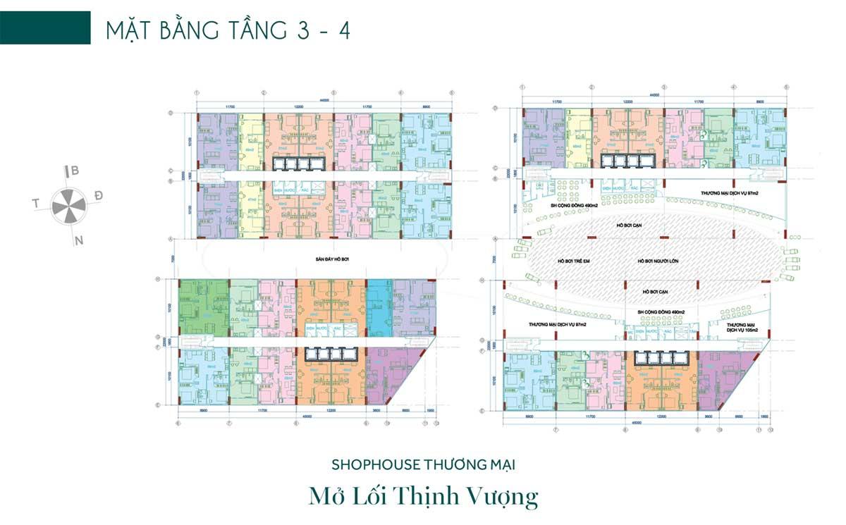 Mat bang tang 3 4 Du an Thien Quan Marina Plaza Can Tho - Thiên Quân Marina Plaza Cần Thơ