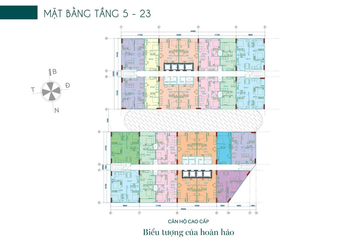 Mat bang tang 5 23 Du an Thien Quan Marina Plaza Can Tho - Thiên Quân Marina Plaza Cần Thơ