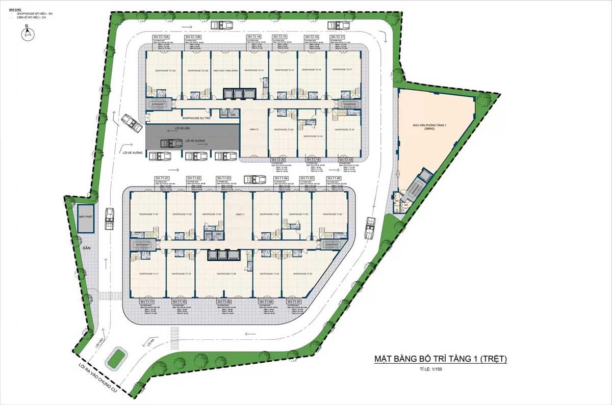 Mat bang tang tret Du an Thien Quan Marina Plaza Can Tho - Thiên Quân Marina Plaza Cần Thơ