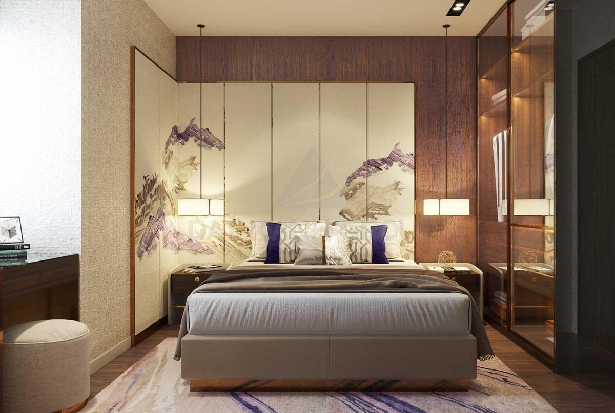 Phong ngu master Can ho 3PN Dat Xanh Homes CityView - Phong-ngu-master-Can-ho-3PN-Dat-Xanh-Homes-CityView