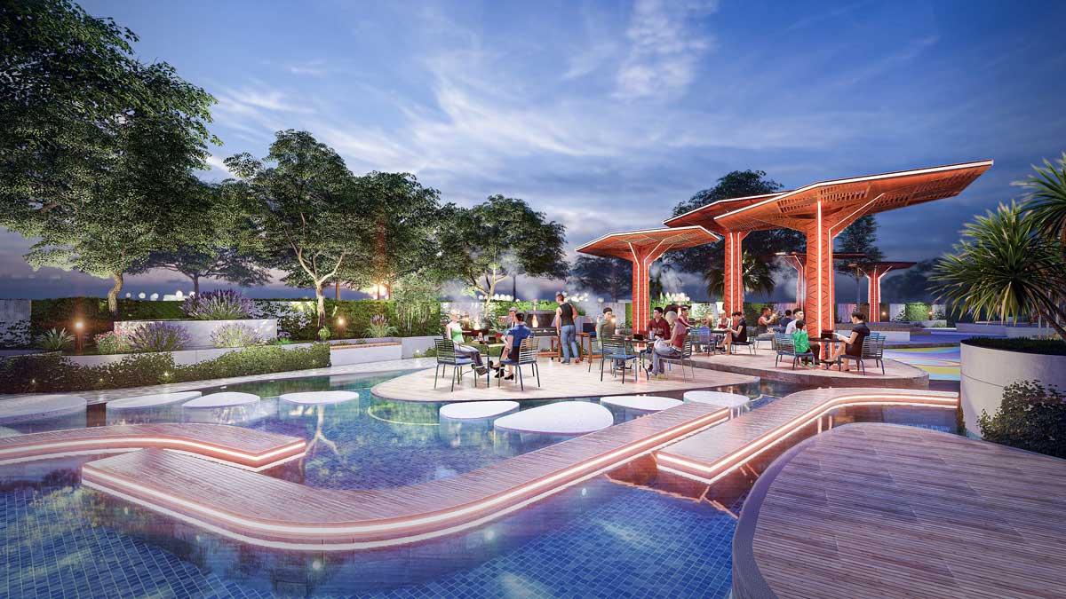 San khau ngoai troi du an thao dien green - Thảo Điền Green Towers Quận 2