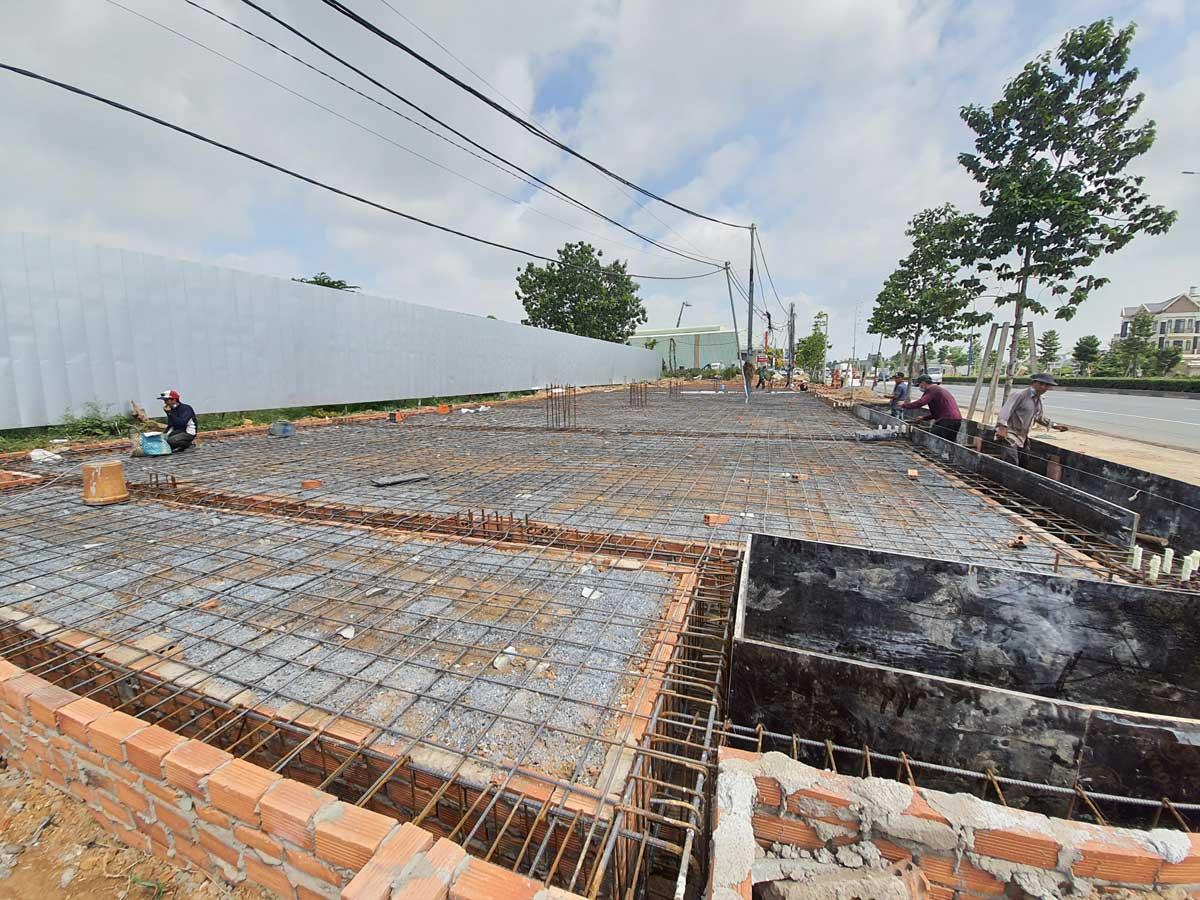Tien do thi cong thuc te hanh lang via he truoc cong du an honas residence thang 7 nam 2021 - Honas Residence