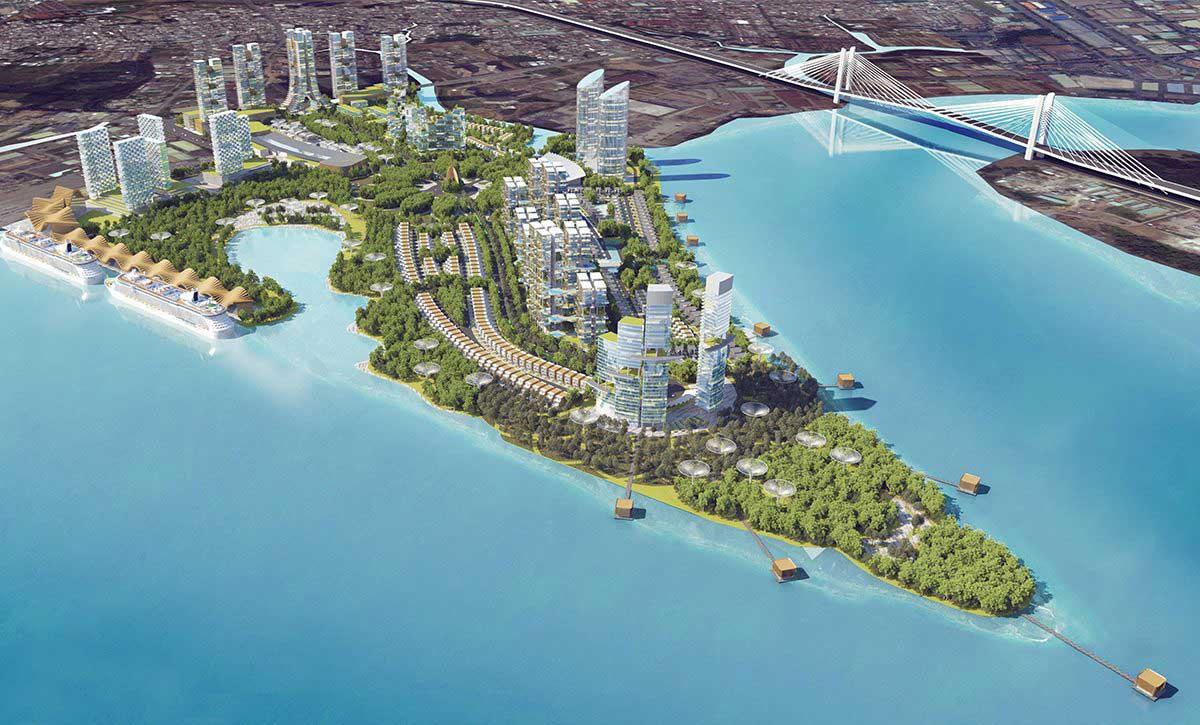 Toàn cảnh Dự án Khu đô thị Saigon Peninsula Quận 7