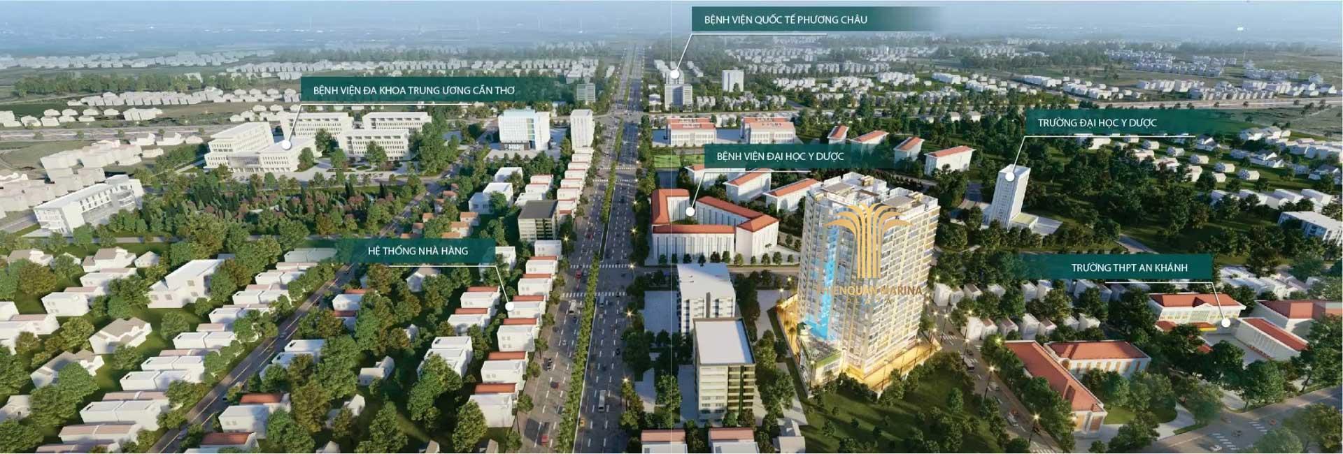 Vi tri lien ket vund Thien Quan Marina Plaza can tho - Thiên Quân Marina Plaza Cần Thơ