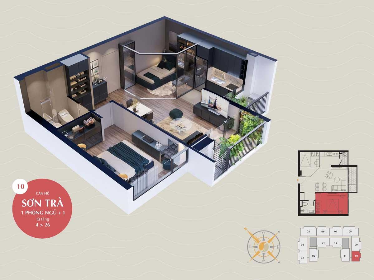 can ho son tra 1 pn the sang residence da nang 2021 - The Sang Residence