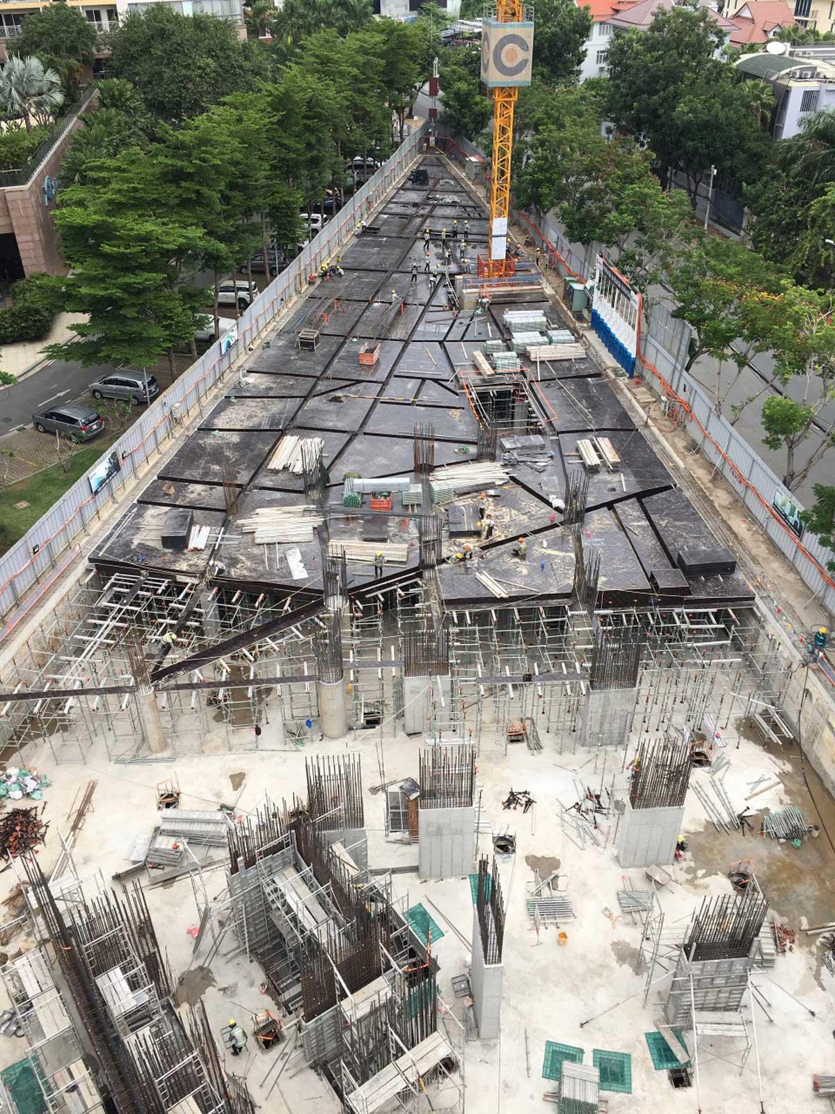 cap nhat hinh anh tien do thi cong du an thao dien green quan 2 thang 7 nam 2021 - Thảo Điền Green Towers Quận 2