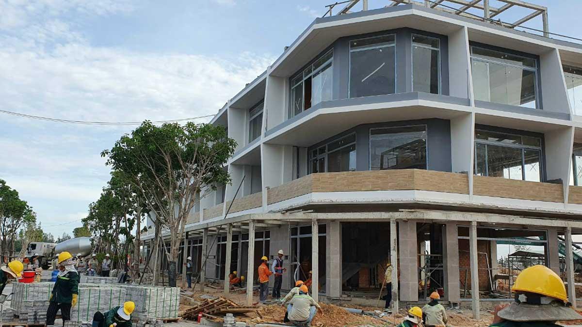 cap nhat tien do thi cong Shophouse du an Thanh Long Bay thang 7 nam 2021 - THANH LONG BAY PHAN THIẾT BÌNH THUẬN