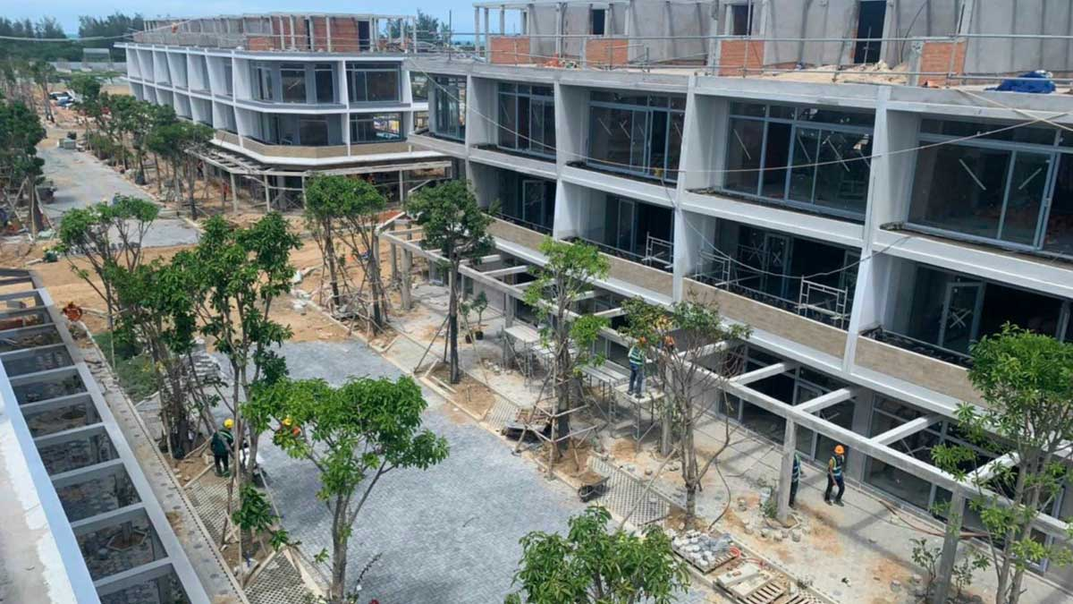 cap nhat tien do thi cong khu nha pho du an Thanh Long Bay thang 7 nam 2021 - THANH LONG BAY PHAN THIẾT BÌNH THUẬN