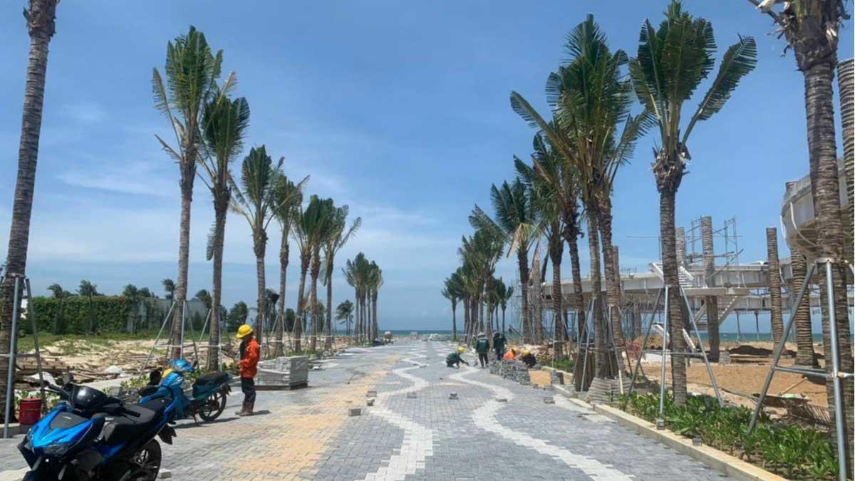 cap nhat tien do thi cong truc duong ra bien du an Thanh Long Bay thang 7 nam 2021 - THANH LONG BAY PHAN THIẾT BÌNH THUẬN