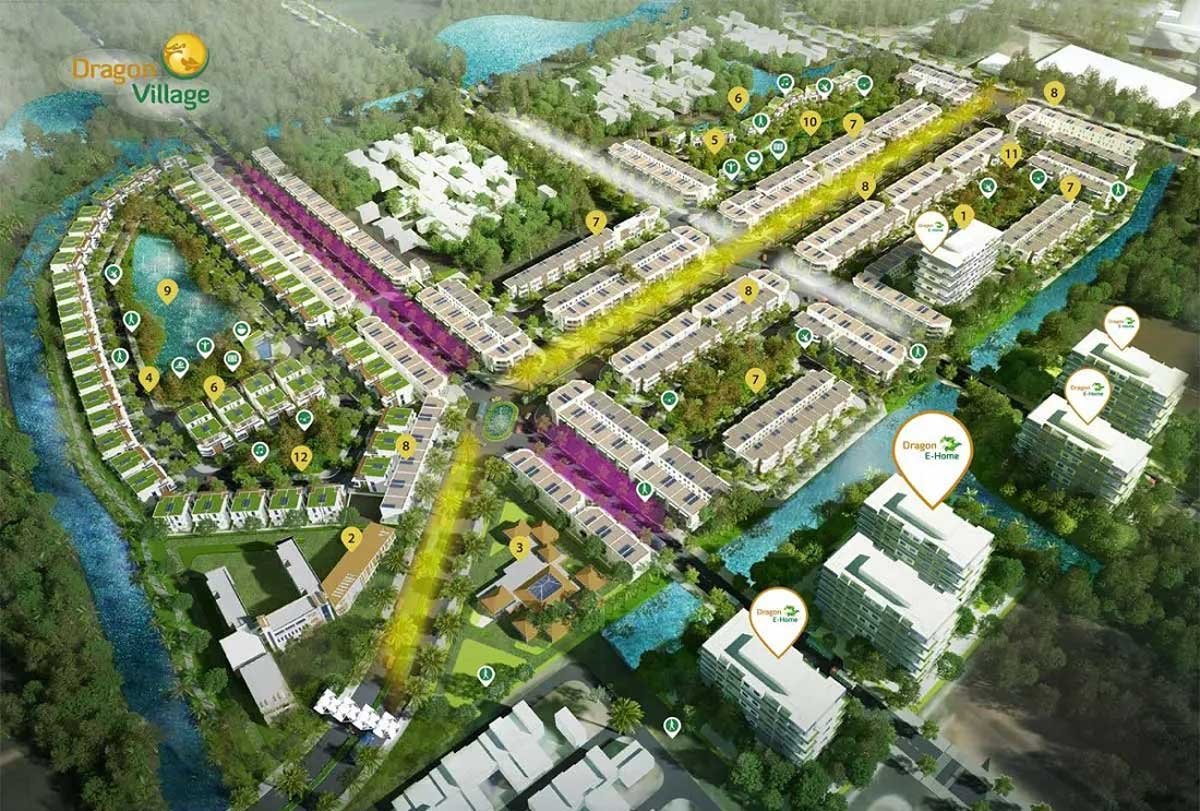 Toàn cảnh Dự án Khu đô thị Dragon Village Quận 9 Thành phố Thủ Đức