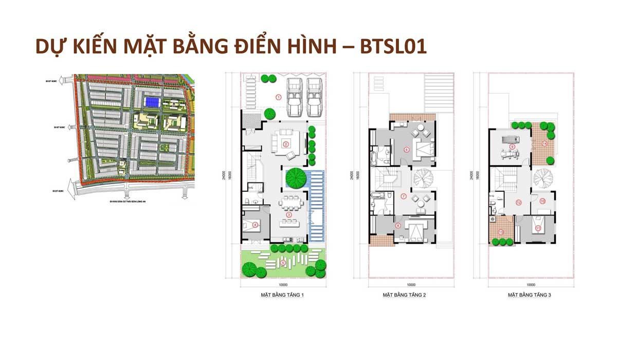 mat bang dien hinh biet thu song lap 01 TT Millennia City 2021 - T&T MILLENNIA CITY