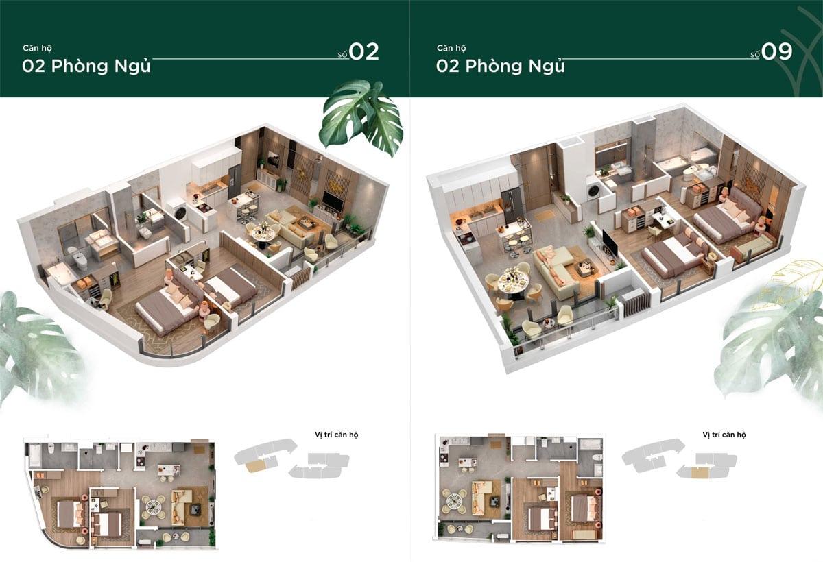 thiet ke can ho 2pn thao dien green - Thảo Điền Green Towers Quận 2