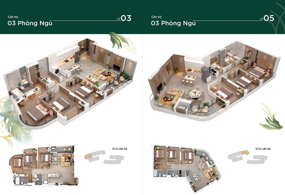thiet ke can ho 3pn thao dien green - Thảo Điền Green Towers Quận 2