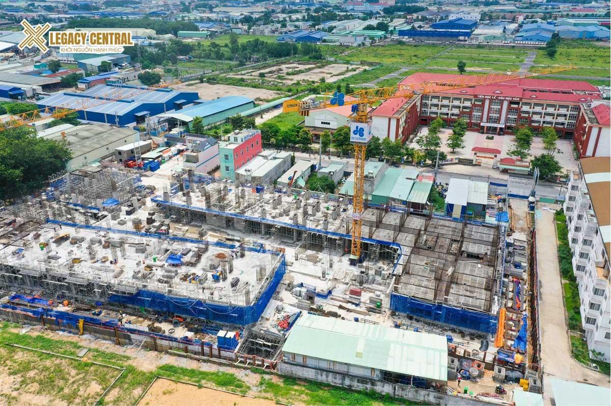 tien do thi cong du an Legacy Central thang 7 nam 2021 - tien-do-thi-cong-du-an-Legacy-Central-thang-7-nam-2021