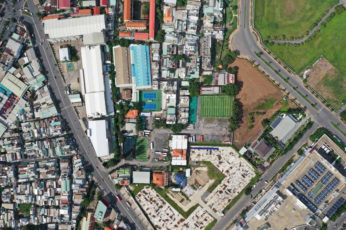 Flycam Tien do thi cong Du an Moonlight Centre Point thang 8 nam 2021 - Moonlight Centre Point