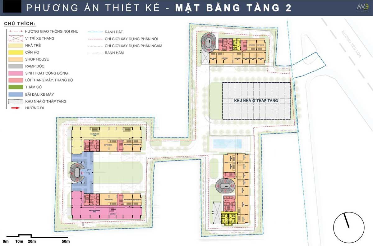 Mat bang Tang 2 Du an Moonlight Complex Binh Tan - Moonlight Complex