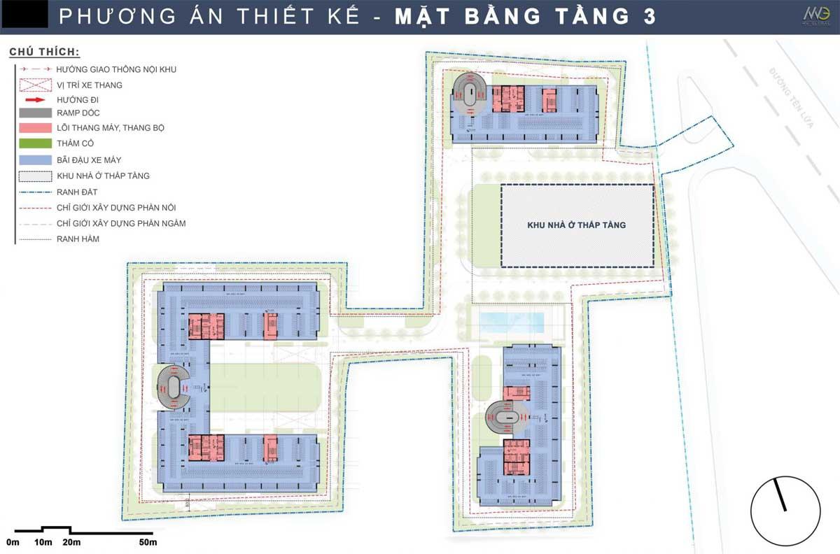 Mat bang Tang 3 Du an Moonlight Complex Binh Tan - Moonlight Complex