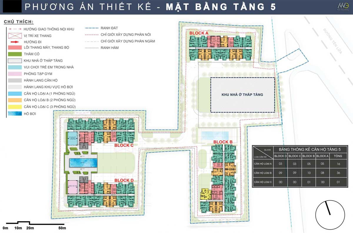 Mat bang Tang 5 Du an Moonlight Complex Binh Tan - Mặt-bằng-Tầng-5-Dự-án-Moonlight-Complex-Bình-Tân