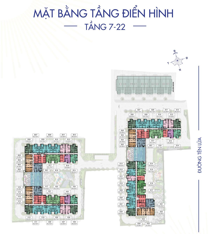 Mat bang Tang 7 22 Du an Moonlight Centre Point - Mat-bang-Tang-7-22-Du-an-Moonlight-Centre-Point