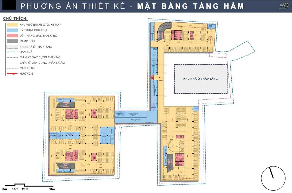Mat bang Tang ham Du an Moonlight Complex Binh Tan - Mặt-bằng-Tầng-hầm-Dự-án-Moonlight-Complex-Bình-Tân