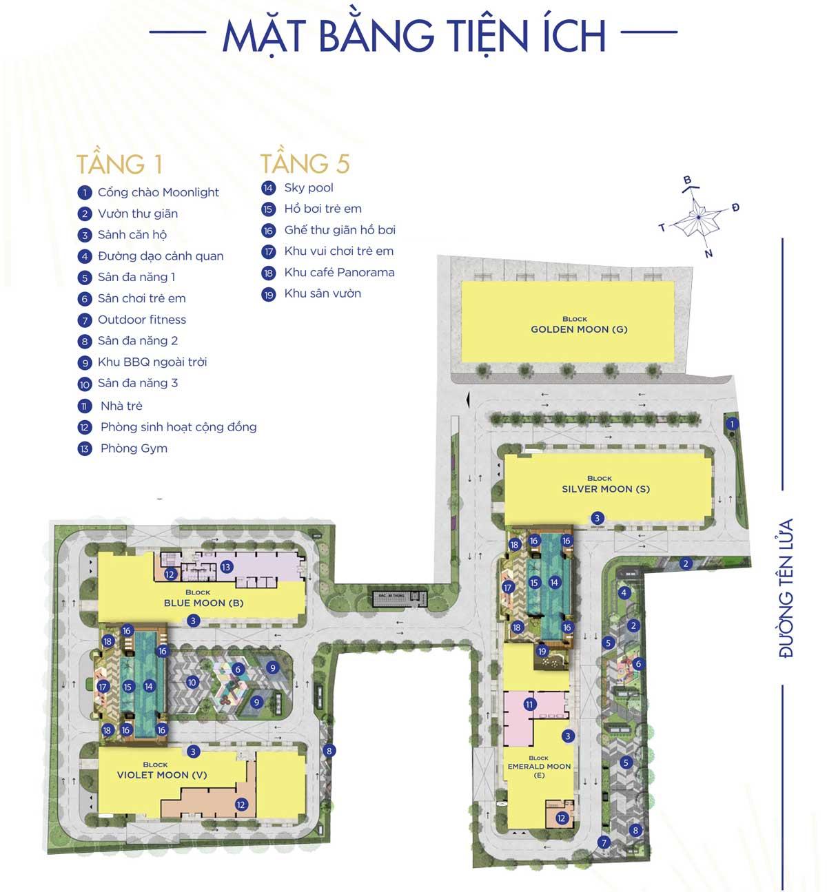 Mat bang Tien ich Du an Moonlight Centre Point - Mặt-bằng-Tiện-ích-Dự-án-Moonlight-Centre-Point