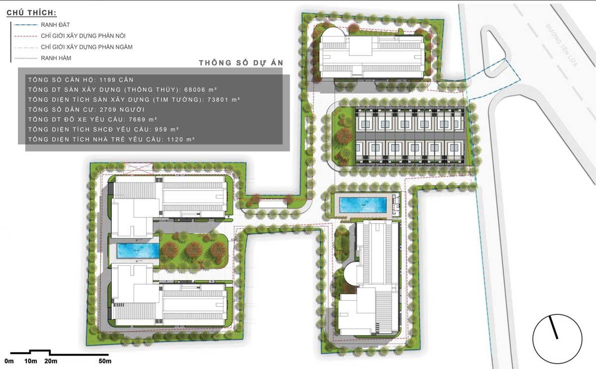Mat bang Tong the Du an Moonlight Complex Binh Tan - Mặt bằng tổng thể Dự án Moonlight Complex Bình Tân