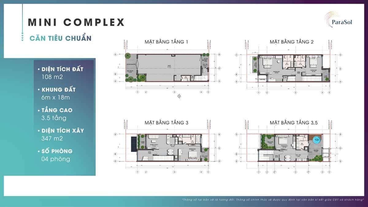Mat bang tang Mini Complex can tieu chuan - ParaSol Cam Ranh