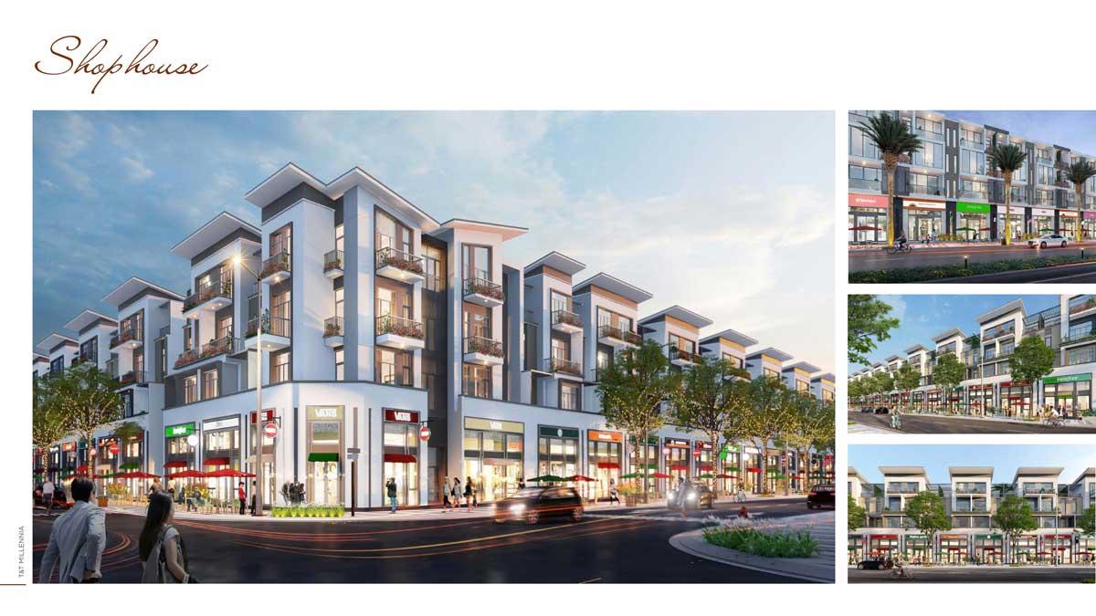 Phoi canh Shophouse TT Millennia City - T&T MILLENNIA CITY