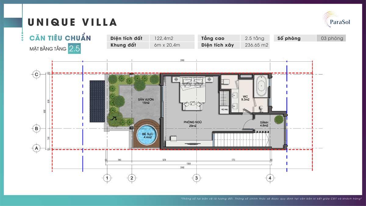 Mat bang tang 2.5 Unique Villa can tieu chuan - Mặt-bằng-tầng-2.5-Unique-Villa-căn-tiêu-chuẩn