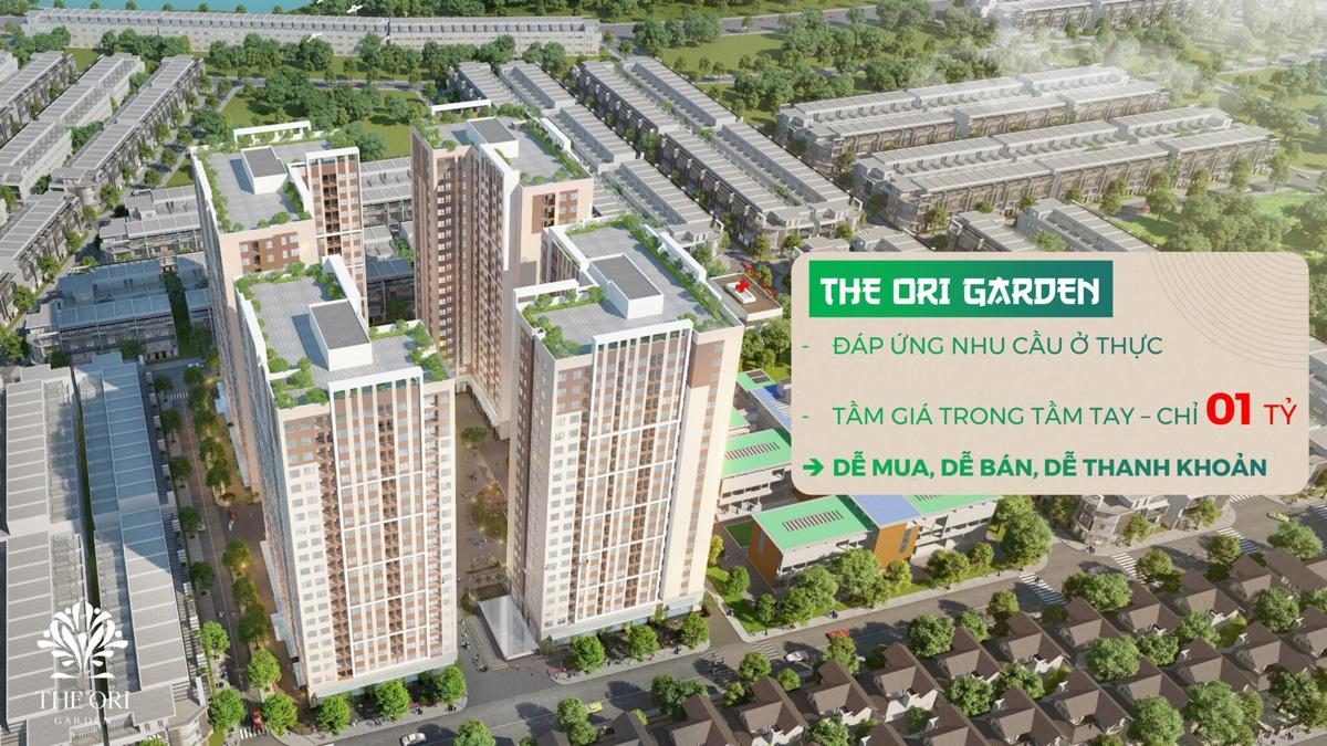 Phối cảnh Dự án Căn hộ The Ori Garden Đà Nẵng