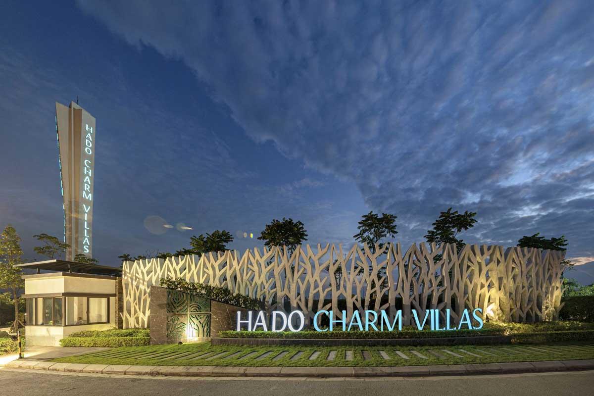 Cổng chào Dự án Hado Charm Villas Hà Nội